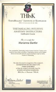 Theta Healing - Instruktor Anatomii Intuicyjnej - 29.07.2011