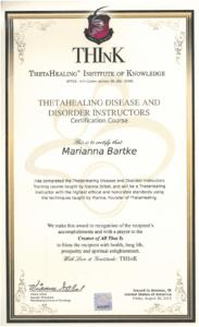 Theta Healing - Instruktor Choroby i Zaburzenia - 30.07.2013