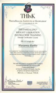 Theta Healing - Instruktor RYTM do wagi Idealnej - 22.07.2011