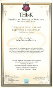 Theta Healing - Instruktor Siedmiu Planów Egzystencji - 22.08.2014