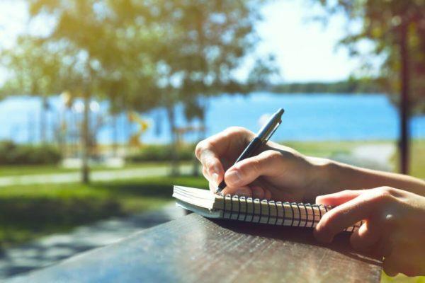 Pisanie w parku