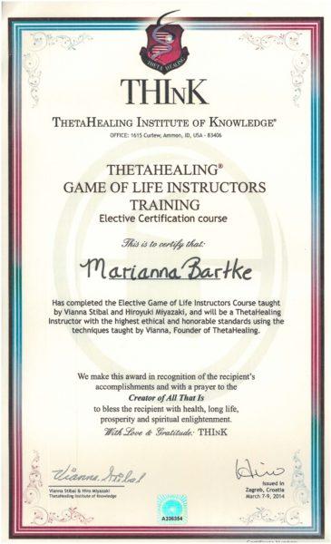 Theta Healing - Instruktor Życie jest Grą - 09.03.2014